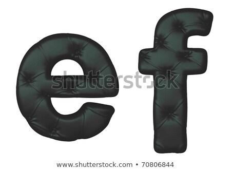 Luxury Black Leather Font F Letter Stok fotoğraf © Arsgera