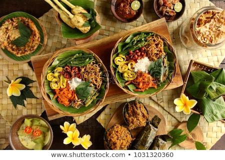 Indonezyjski żywności bali kilka ryżu asia Zdjęcia stock © travelphotography