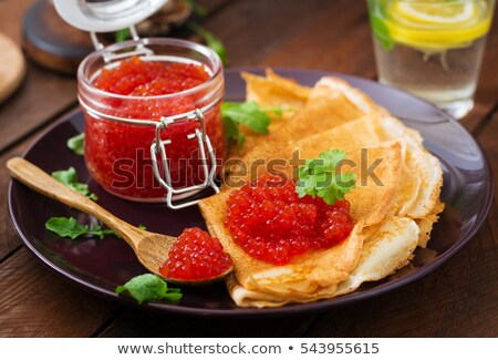 crepe · rojo · caviar · blanco · peces · lujo - foto stock © alexandre17