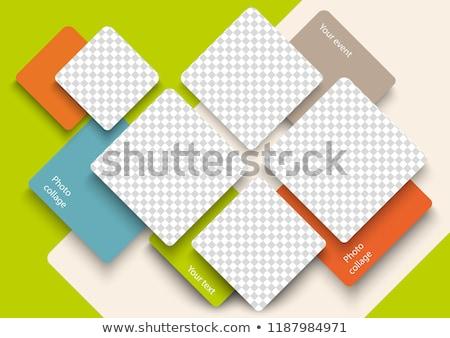 cadres · image · Nice · étage · mur · cadre - photo stock © gant