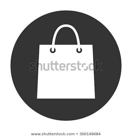 White shopping bag icon Stock photo © orson