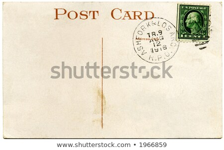 vintage · briefkaart · een · cent · papier - stockfoto © latent