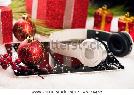праздник настоящее электронных подарки компьютер таблетка Сток-фото © digitalstorm