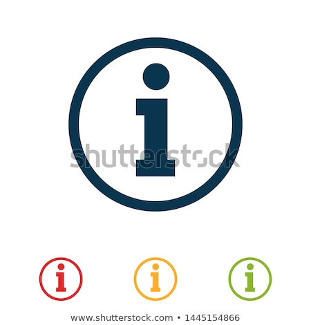 Information icon blue, isolated on white background. stock photo © zeffss