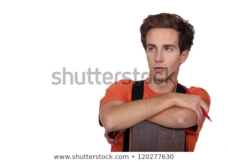 Woodworker stood with laminate flooring Stock photo © photography33