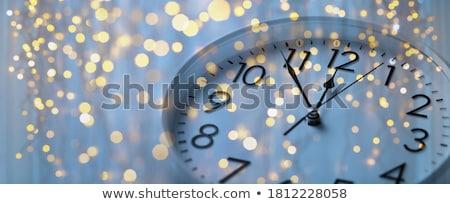 Beş alüminyum duvar saat Stok fotoğraf © Stocksnapper