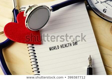 dikkat · mavi · stetoskop · karanlık · doktor · tıbbi - stok fotoğraf © pkdinkar