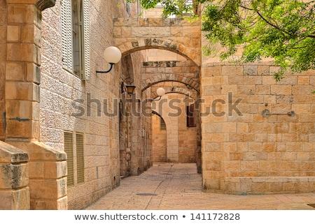 eski · sokak · Kudüs · İsrail · dikey · görüntü - stok fotoğraf © rglinsky77