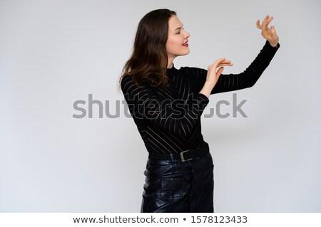 Kabaré hölgy éjszaka kék fény szexi Stock fotó © adamr