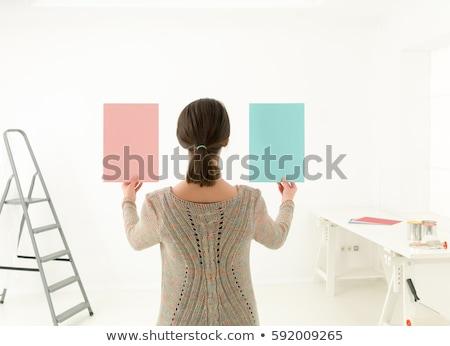 Stock fotó: Nő · választ · szín · festék · szivárvány · sajtó