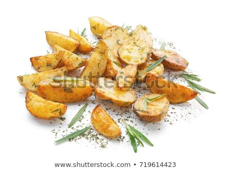 rozmaring · fokhagyma · pörkölt · krumpli · étel · edény - stock fotó © elly_l