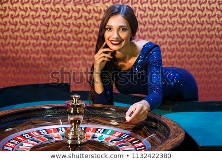 казино · дилер · стороны · рабочих · черный · весело - Сток-фото © tony4urban