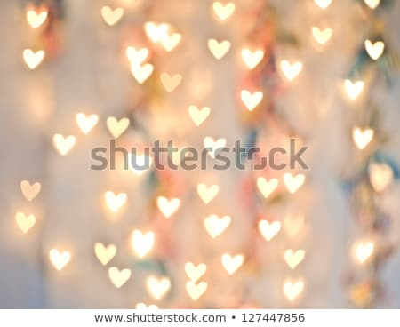 Stock photo: Abstract Heart Lights Background