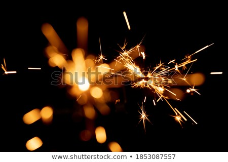 Stock photo: floating color sparks