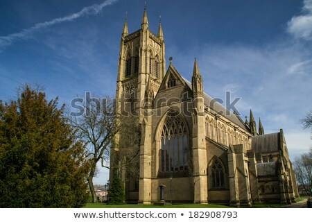 Old English Church On A Sunny Day Stock photo © stuartmiles