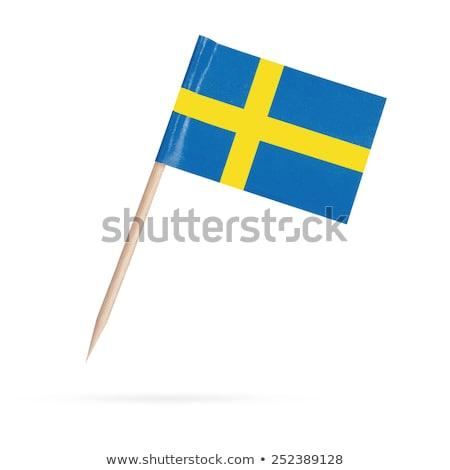 миниатюрный флаг Швеция изолированный заседание Сток-фото © bosphorus