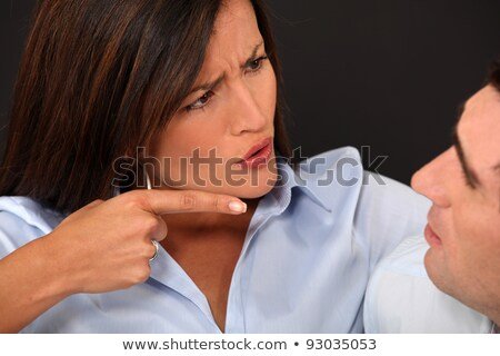 Woman blaming her husband Stock photo © photography33
