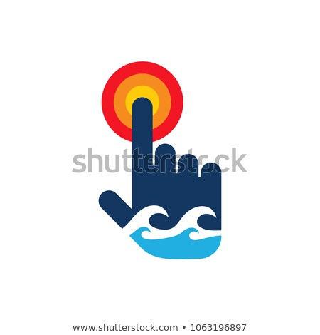 abstract ripples and cursor hand  Stock photo © donskarpo