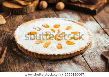apricot tart stock photo © m-studio