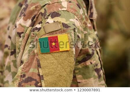 Foto stock: Exército · Camarões · quadro · guerra · serviço · silhueta