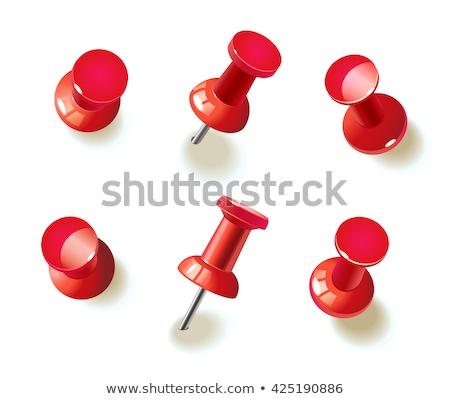 Desenho pin vermelho ferramenta agulha clipe Foto stock © perysty