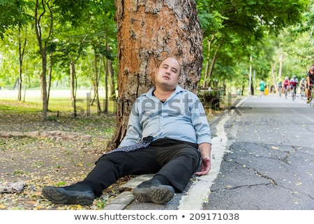 Homeless Man - Under Attack Stock photo © lisafx