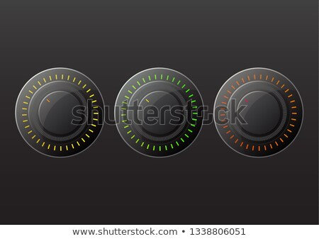 Black volume knob. stock photo © Sylverarts