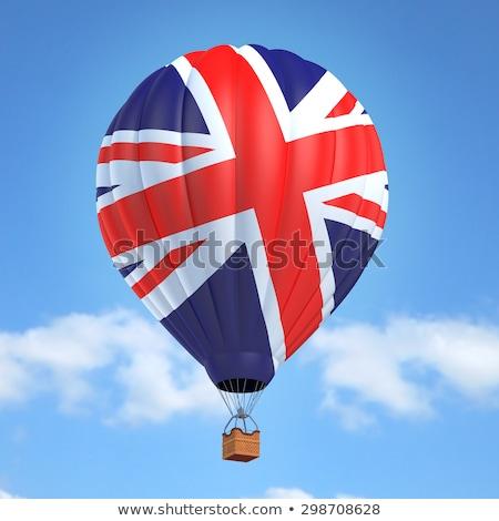 Великобритания · флаг · бумаги · карта · крест · красный - Сток-фото © experimental