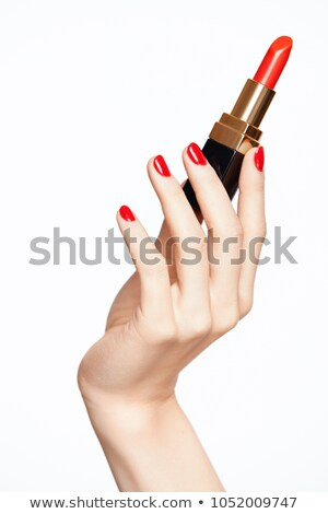 Female hand hold lipstick Stock photo © ozaiachin