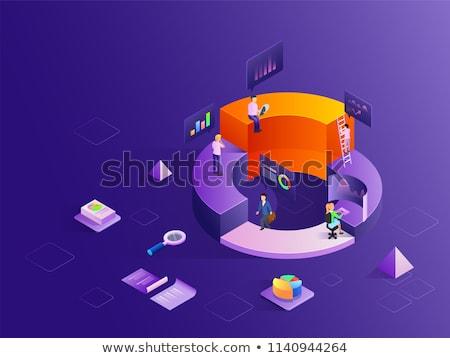 Stock fotó: Fényes · bár · kördiagram · terv · művészet · pénzügy