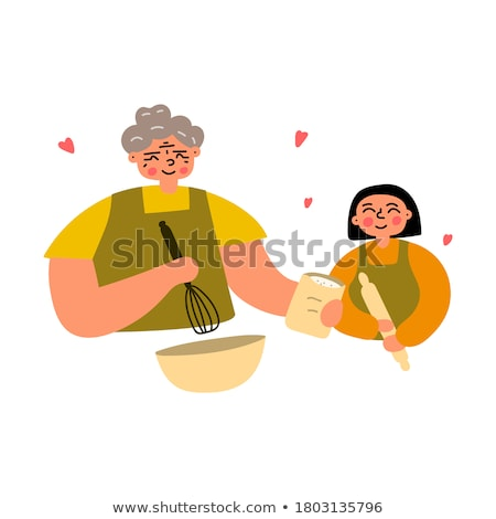 Młoda kobieta gotowania starszych pani model włosy Zdjęcia stock © photography33