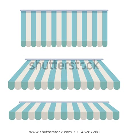 Storefront Awning in blue Stock photo © experimental