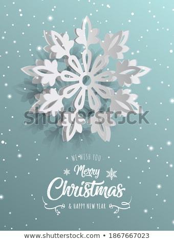 cadere · fiocchi · di · neve · carta · illustrazione · Natale - foto d'archivio © deyangeorgiev