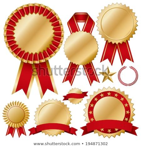 eerste · prijs · gunning · icon · Blauw · goud - stockfoto © rtguest