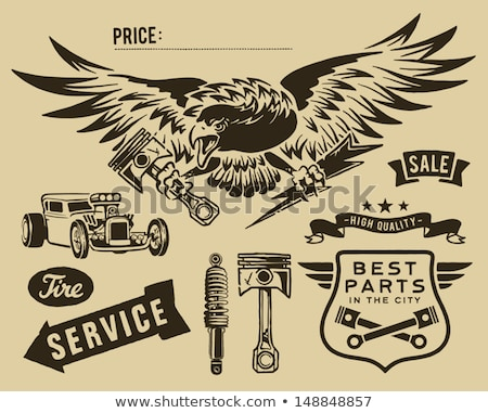 Vintage eagle and auto-moto parts Stock photo © hauvi