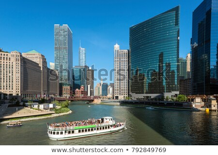 Industrial Chicago rio centro da cidade cidade viajar Foto stock © benkrut