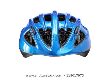 Stok fotoğraf: Mavi · bisiklet · kask · yalıtılmış · spor · dağ
