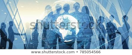 Iş mavi seksi genç iş kadını Stok fotoğraf © dash