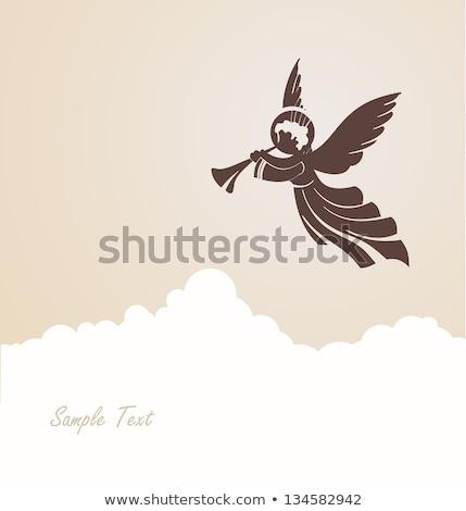 Piccolo angelo cantare rendering 3d ragazzo kid Foto d'archivio © AlienCat