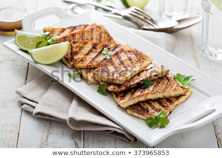 grilled tofu with vegetables and rice stock photo © m-studio