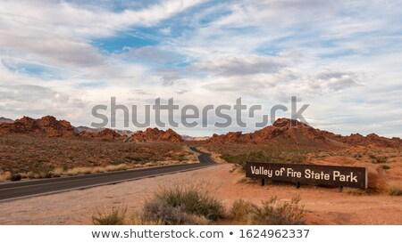 Vadi yangın park imzalamak giriş Nevada Stok fotoğraf © emattil