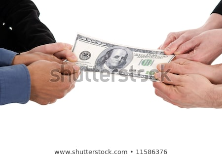 Stock photo: business people fighting over some us money