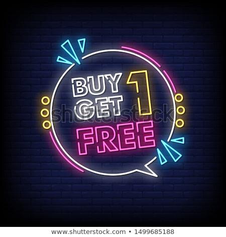 vásárol · egy · felirat · bejelent · eladó · promóció - stock fotó © marinini