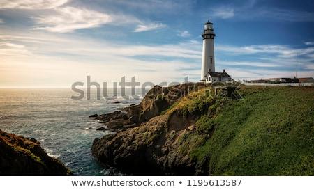 paloma · punto · faro · océano · acantilado - foto stock © marcopolo9442
