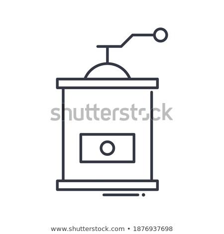 nyomtató · ikon · jég · izolált · fehér · háló - stock fotó © zeffss