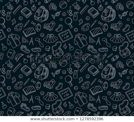 Garage sale seamless pattern / Colorful Object background Stock photo © curvabezier