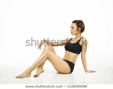 Muscular young athlete with perfect body Stock photo © konradbak