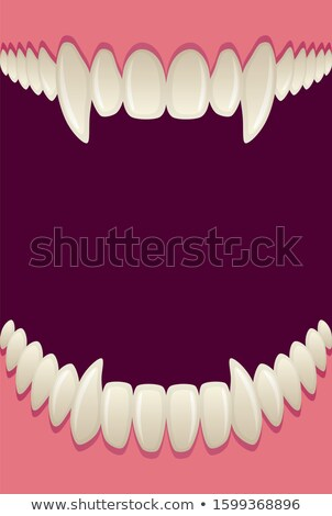 Stock photo: Bloody vampire mouth