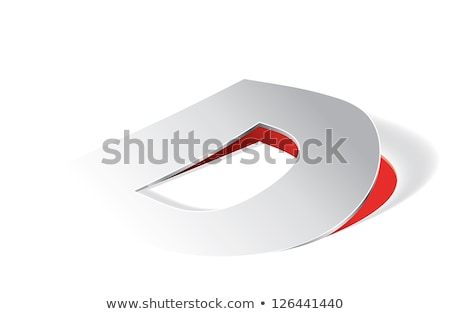 Paper folding with letter D in perspective view Stock photo © archymeder