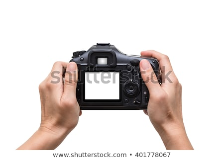 Photo camera in hand with clipping path Stock photo © sqback